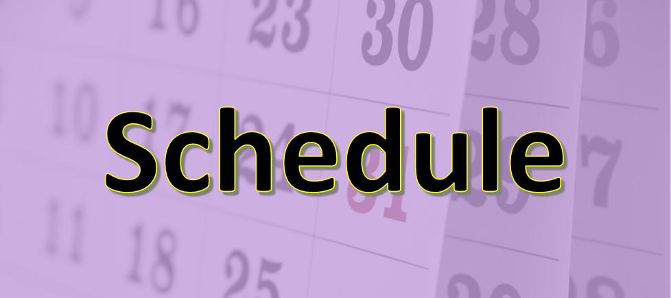 2019 Schedule